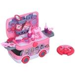 Homcom Kosmetikkoffer im Bus-Design rosa