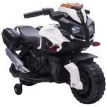 Homcom Elektrisches Motorrad für Kinder mit Hupe und Scheinwerfer weiß und schwarz