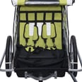 Homcom 2 in 1 Kinderanhänger für 2 Kinder grün/weiß/schwarz