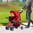Pawhut Hunde Stroller mit Gitternetz rot