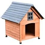 Pawhut Hundehütte im Kabinenstil natur