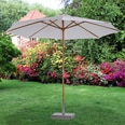 Outsunny Sonnenschirm dreifach höhenverstellbar cremeweiß/natur