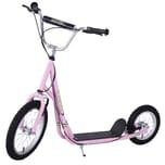 Homcom Scooter mit höhenstellbarem Lenker pink/schwarz/silber