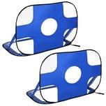 Homcom Fußballtor im 2er Set blau