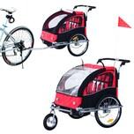 Homcom Kinderanhänger 2 in 1 – Fahrradanhänger und Jogger
