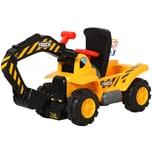 Homcom Rutscherfahrzeug als Baggerauto gelb/schwarz