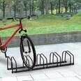 Homcom Aufstellständer bis zu 5 Fahrräder schwarz