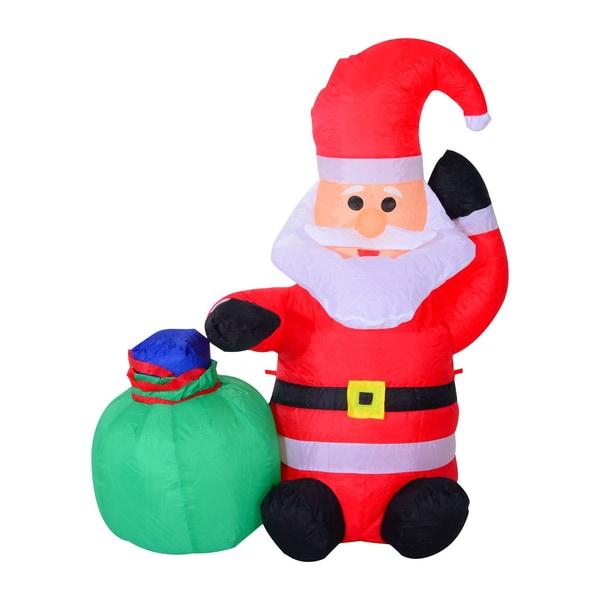 Homcom LED Weihnachtsmann aufblasbar warmweiß