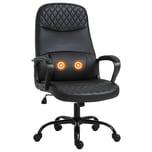 Vinsetto Bürostuhl mit Massagefunktion schwarz