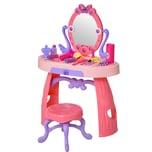 Homcom Kinderschminktisch mit Hocker rosa