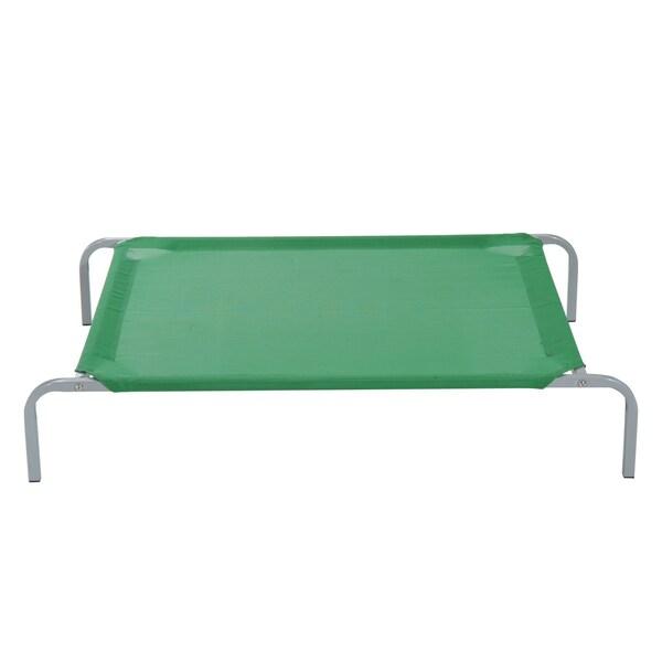 Pawhut Hundebett grün/silber