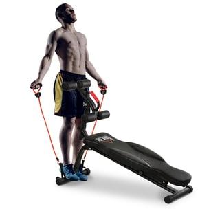 Homcom Multifunktions-Trainingsbank für Arme/Beine und Hüften schwarz
