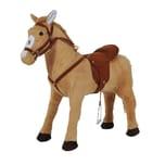 Homcom Kinderpferd beige