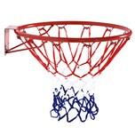 Homcom Basketballkorb mit Netz rot/blau/weiß
