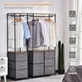 Homcom Garderobenständer mit 5 Schubladen grau