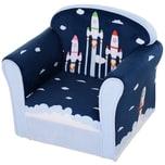 Homcom Kindersessel mit Raketenmotiv blau