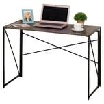 Homcom Schreibtisch klappbar schwarz/braun