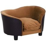 Pawhut Hundesofa im luxuriösen Design braun
