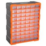 Durhand Kleinteilemagazin mit 70 Fächer orange