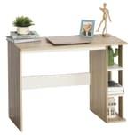 Homcom Schreibtisch mit Seitenregal Natur, Weiß
