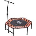 Homcom Fitness-Trampolin mit Haltegriff schwarz/orange