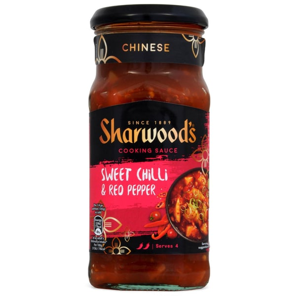 Sharwoods Chinese Sweet Chilli & Red Pepper Cooking Sauce 425g - Kochsoße, Paprika-Chili