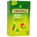 Twinings Grüner Tee Apfel & Birne 20 Teebeutel aromatisierter Grüntee Apfel-Birne-Geschmack