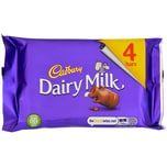 Cadbury Dairy Milk Chocolate 4 Riegel 117.2g