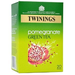 Twinings Grüner Tee mit Granatapfel 20 Teebeutel - aromatisierter Grüntee Granatapfel-Geschmack