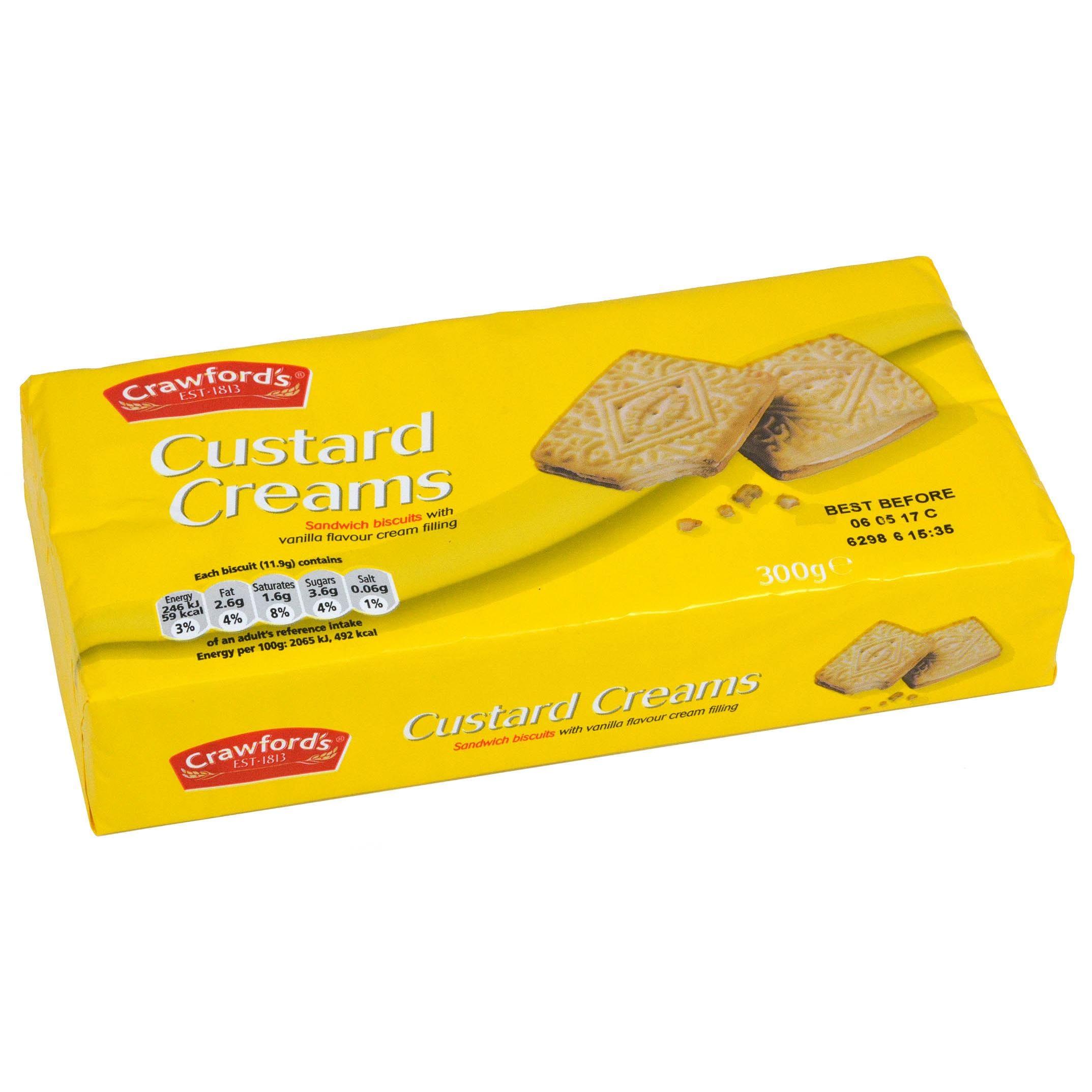 Crawfords Custard Creams 300g - Doppelkekse mit Creme-Füllung