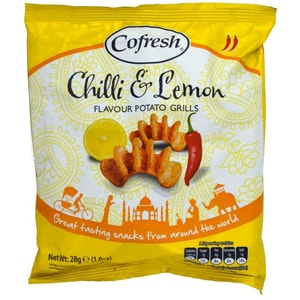Cofresh Chilli & Lemon Flavour Potato Grills 28g - Kartoffelsnack Chilli & Zitronen Geschmack