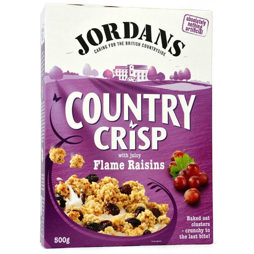 Jordans Country Crisp Flame Raisins - Frühstücksflocken mit Rosinen