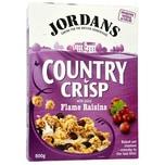 Jordans Country Crisp Flame Raisins Frühstücksflocken mit Rosinen