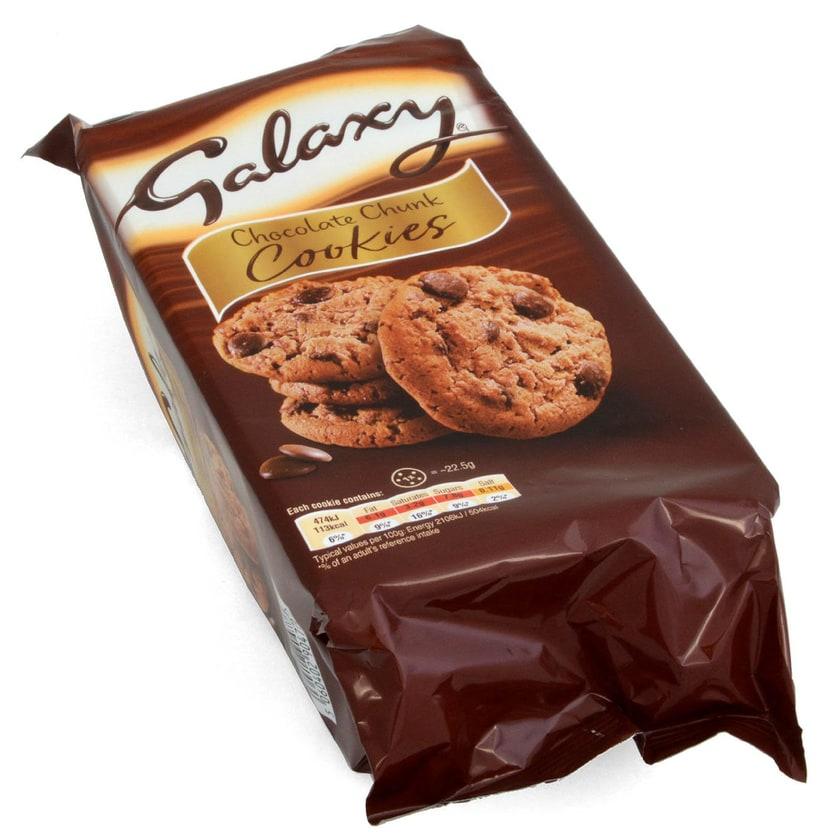 Galaxy Chocolate Chunk Cookies 180g mit Galaxy Milchschokoladestücken