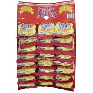 Smiths Bacon Fries 24er Pub-Karte - frittierte, gewürzte Schweineschwarte