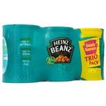 Heinz Beanz Baked Beans Trio Pack 3 x 415g - Weiße Bohnen in Tomatensoße
