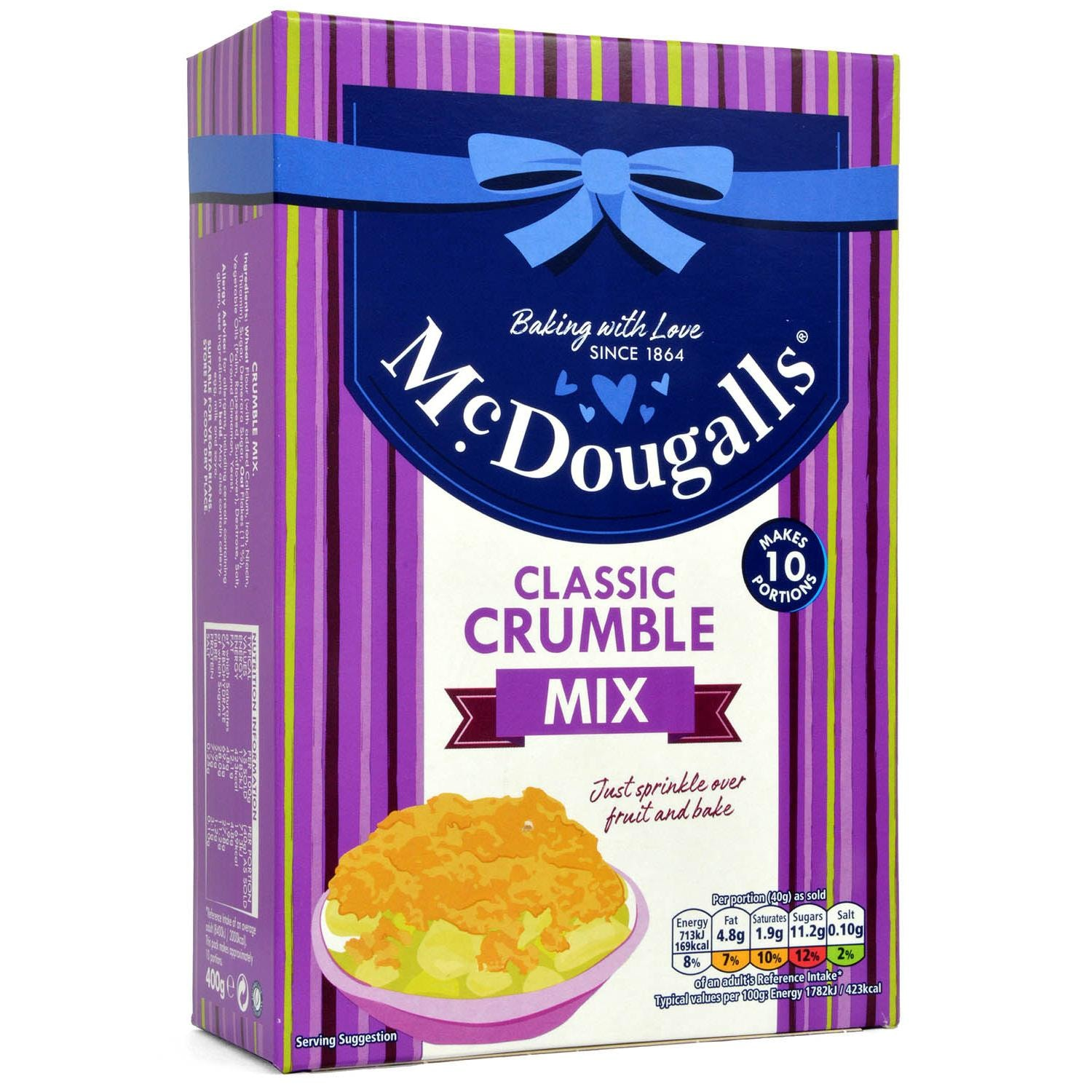 McDougalls Crumble Topping Mix - Streusel-Backmischung
