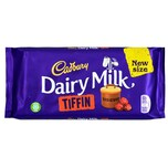 Cadbury Dairy Milk Tiffin 200g - Milchschokolae mit Trauben und Keks