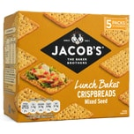 Jacobs Crispbreads Mixed Seed 5 x 38g Knäckebrot mit Mohn und Kürbiskern