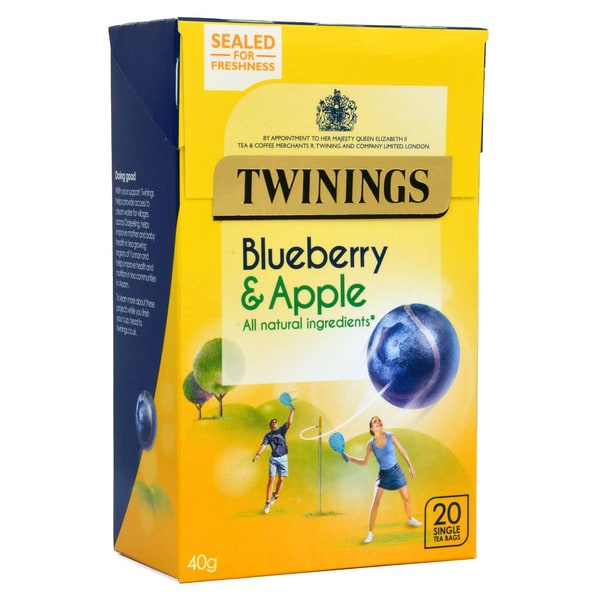 Twinings Blaubeere & Apfel 20 Teebeutel - aromatisierter Früchtetee