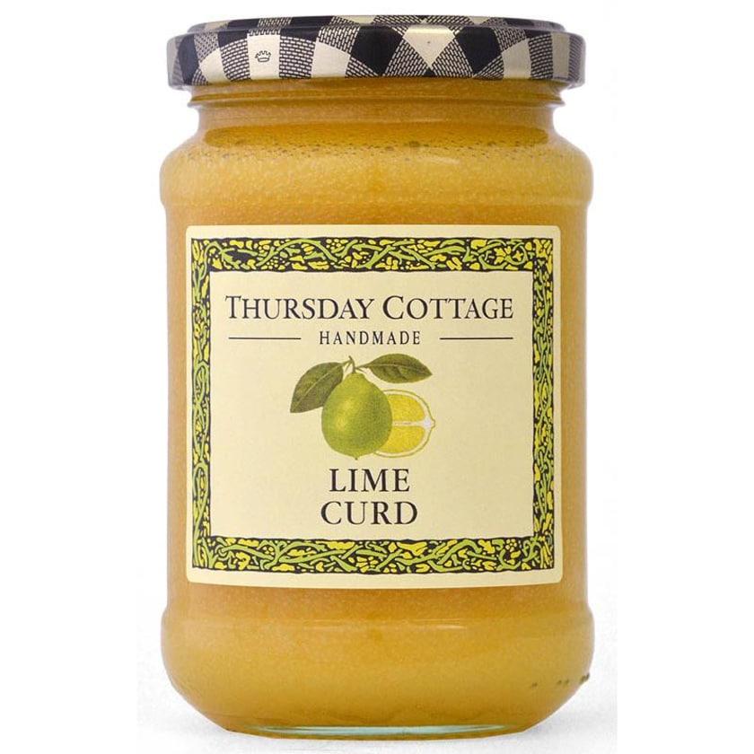 Thursday Cottage Limetten-Curd 310g - Limettenaufstrich mit Butter und Ei