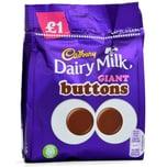 Cadbury Dairy Milk Giant Buttons 95g - Milchschokolade