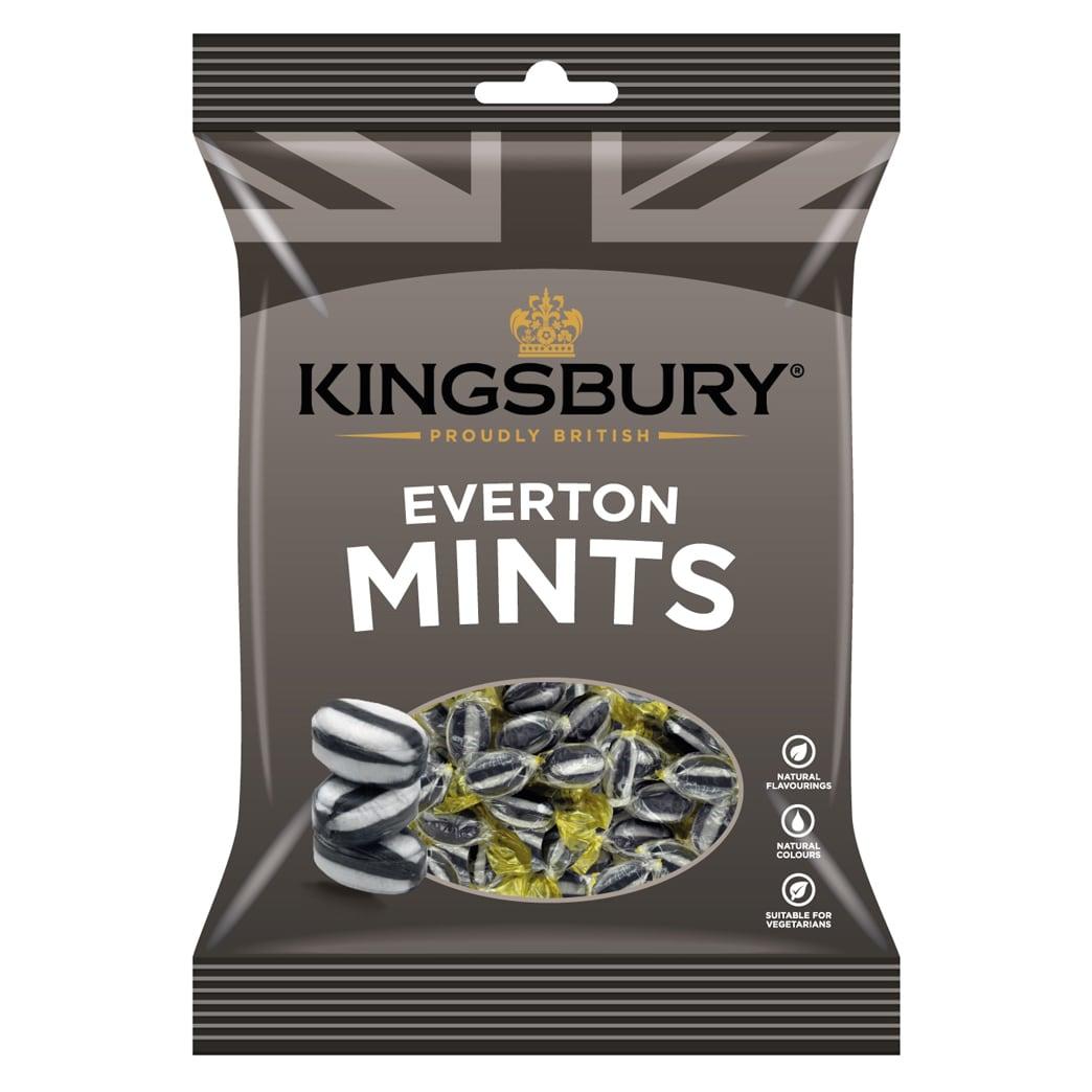 Kingsbury Everton Mints 160g - Pfefferminzbonbons mit Toffee-Kern