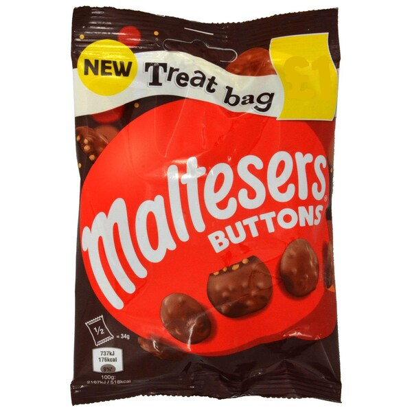 Maltesers Buttons Schokolinsen mit Knusperstückchen 68g