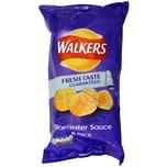 Walkers Worcester Sauce, 6 x 25g Pack - Kartoffelchips Worcestersauce-Geschmack