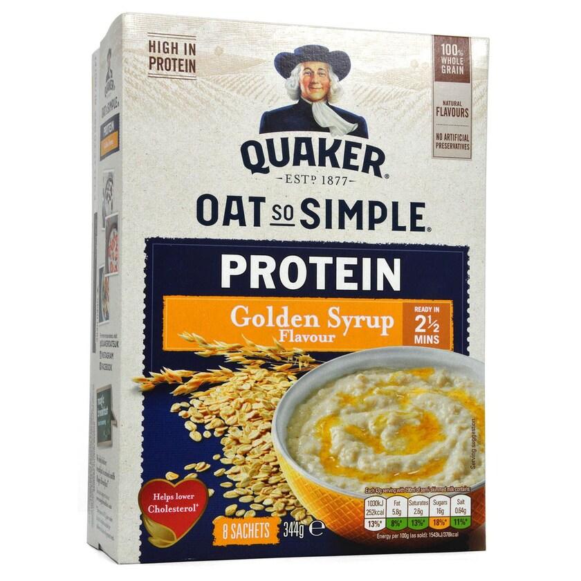 Quaker Oat So Simple Protein Golden Syrup Haferflocken mit Protein-Zusatz 344g