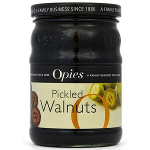 Opies Pickled Walnuts 390g - ATG 170g Walnüsse in Malzessig eingelegt