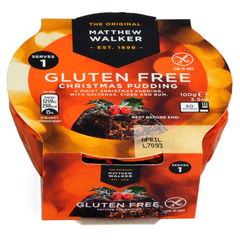 Matthew Walker Gluten Free Christmas Pudding 100g - Weihnachtspudding, glutenfrei