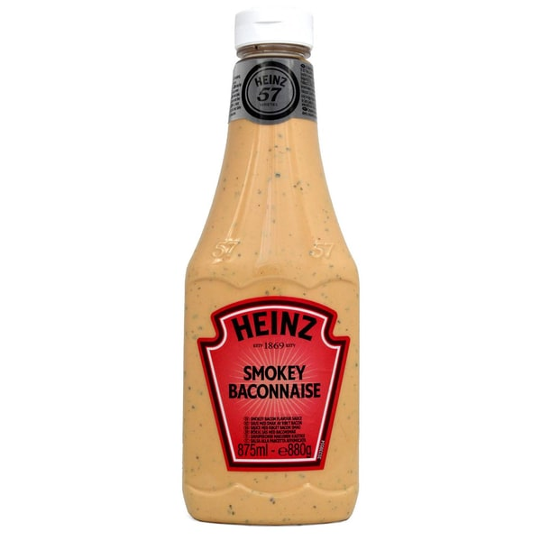 Heinz Smokey Baconnaise 875ml - 880g - Grillsauce Räucherspeck-Geschmack