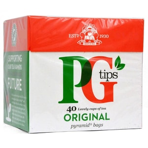 PG Tips Tee 40 Teebeutel - 116g - Schwarztee in Teebeuteln